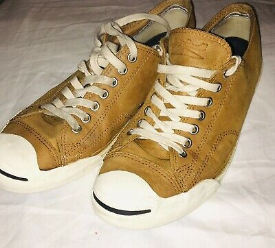 4af6e2eea9e7 Converse Jack Purcell Men s Sneakers Shoes Men Size 9.5 Women 11.5 Leather  Brown