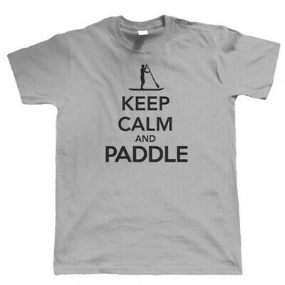 Keep Calm & Paddle, Mens T Shirt - Boarding Equipment Gift Dad Him Fathers Day