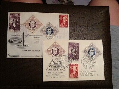 Monaco Honors Great American Presidents FDC and Postcard