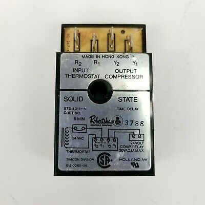 Robertshaw STD4011-5 Solid State Time Delay Relay, 5 minute, 24V  3788
