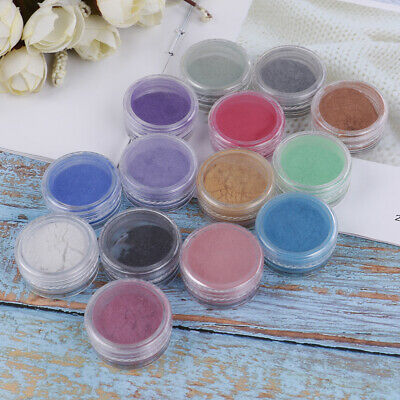 Cosmetic grade natural mica pigment soap candle colorant dye 14 color with box^S