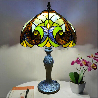 Handcrafted TIFFANY TABLE LAMP LUXURY Style Home Decor Bed/Living Room UK