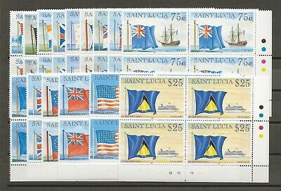 ST LUCIA 1996-7 SG 1141-55 MNH Blocks of 4 Cat £140