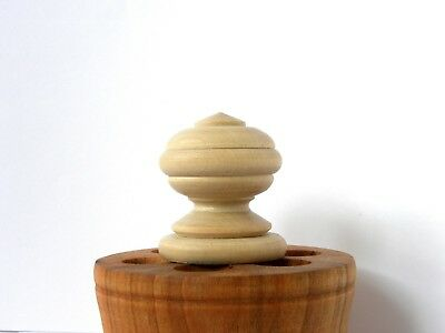 Wood  Finials Post, Clock, Craft  Wooden Vintage Cap Newel Furniture