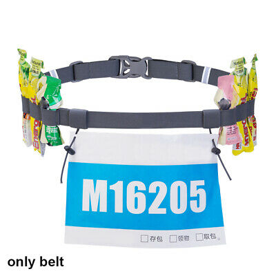 Women Unisex Running Waist Pack Race Number Belt Sports Tool Cloth Bib Holder