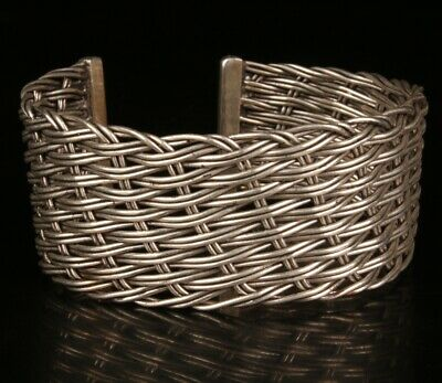Chinese Tibetan Silver Handmade Carving Knitted Bracelet Gift Collection