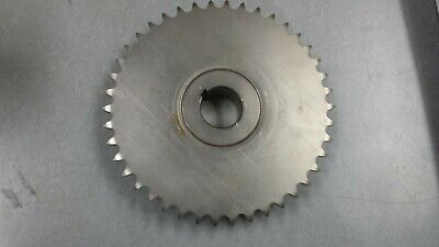"""40BS42 x 1-1/4"""" SPROCKET, Nickle Plated 1-1/4"""" BORE,  42 TEETH, 6.97"""" OD NEW"""