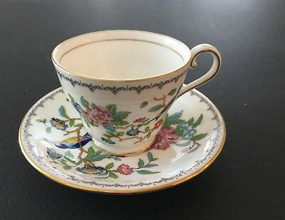 Aynsley Pembroke Footed, Gold Rimmed, Cup and Saucer Set (7 sets available)