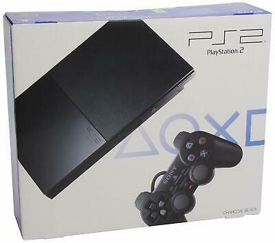 Sony PS2 Slim Playstation 2 Console (EU) PAL SCPH-90004 CB - BLACK - NEW SEALED