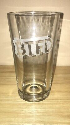 BTFD Etched Pint Glass Bitcoin Litecoin Eth Crypto Currency