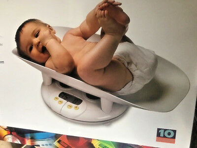 Salter Electronic Baby Toddler Safety Scale Comfortable Secure Weight Reader NEW