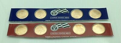 2009 P&D Lincoln Bicentennial Satin Set - 8 Coins - from Mint Set