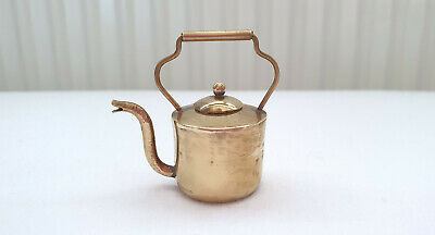 Lot 78, 1/12th Scale Dolls House Miniatures, Hand Made Brass Kettle, New