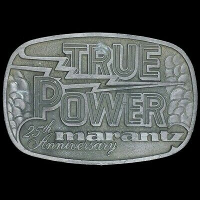 Vtg Marantz True Power Audiophile Hi-fidelity 25th Anniversary 70s Belt Buckle