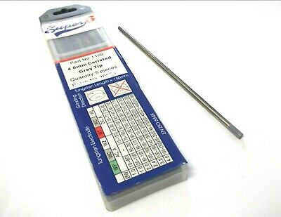 Tungsten electrodes. TIG. 1.0mm - 2.4mm. Grey. Pack of 10. *Top Quality!