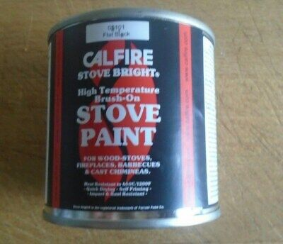 Calfire Heat Resistant Brush On Black Paint Wood Burner Multi Fuel Stove