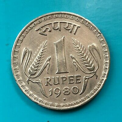 INDIA 1 RUPEE 1980 Old British Crown Colony Paise Asoka Animal Coin PLUS MORE