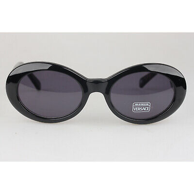 e43cefd7f10b0 Authentic Gianni Versace Vintage Black Butterfly Sunglasses 403G New Old  Stock