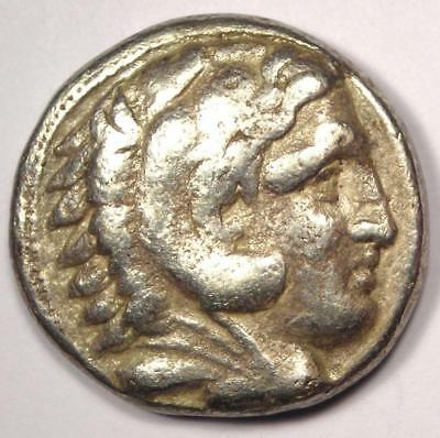 Alexander the Great III AR Tetradrachm Coin 336-323 BC - Nice Condition!