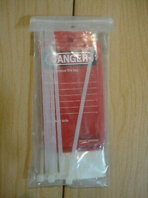 "Master Lock ""Danger"" Lock Out Tag 5 3/4"" x 3"" Pack of 6 with Ties"