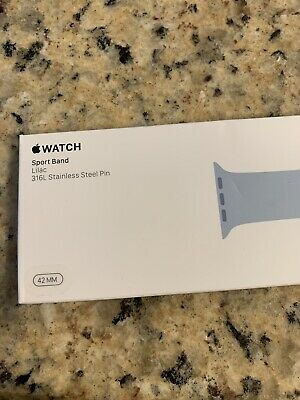 NEW 42mm 44mm HTF Rare Lilac Apple Watch Band Authentic/Genuine/OEM