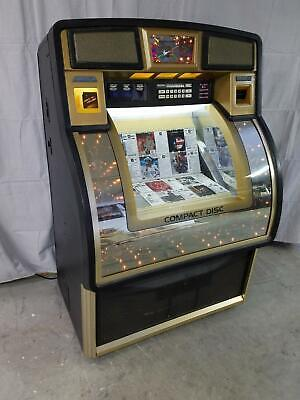 Rowe AMI CD100 H Black and Gold Jukebox- Includes 100 CDs and Bluetooth Audio!