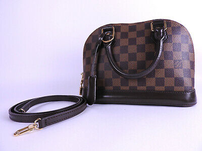 6c577ed5373f Auth LOUIS VUITTON Alma BB 2way Shoulder Hand Bag Damier Ebene N41221 A-8960