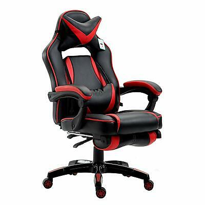 CTF High Back Recliner Gaming Swivel Chair with Footrest & Lumbar & Head Cushion
