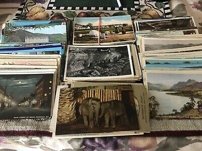Lot of 25 Unused Random Vintage postcards  from 1910/90s, Start Collecting Tod