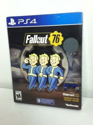 Fallout 76 EXCLUSIVE Edition with SteelBook & Controller Skin! PlayStation 4-FS