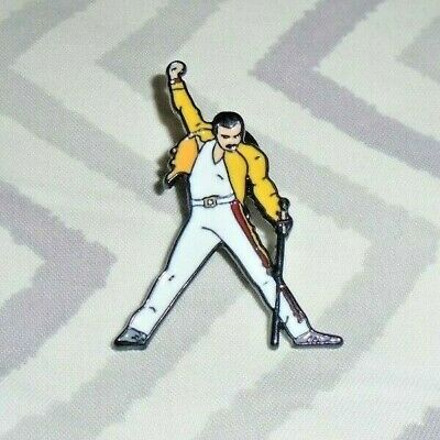 Freddie Mercury Wembley Pin Badge (Queen) Bohemian Rhapsody