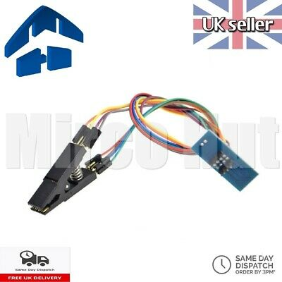 Flash Chip IC Test Clip Adapter w/ Cable for Programming SOIC16 SOP16 DIP8 BIOS