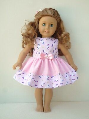 American Girl Our Generation pink unicorn party dress 18 inch doll clothes