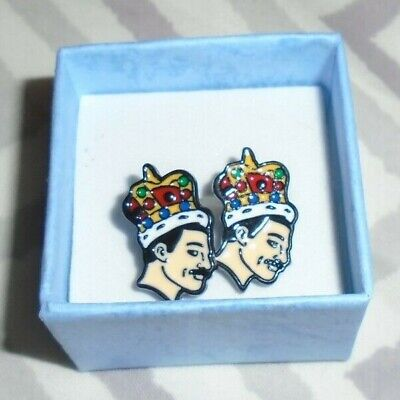 Freddie Mercury Crown Earrings (Queen) Bohemian Rhapsody
