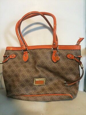 Guess GUESS tote bag SY453522 DELANEY SMALL CLASSIC TOTE BROWN BR
