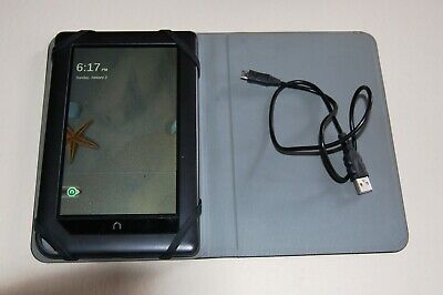 """Barnes & Noble NOOK GlowLight Plus Wi-Fi, 6.4 """" Black. HD Case/Stand  Used Once."""