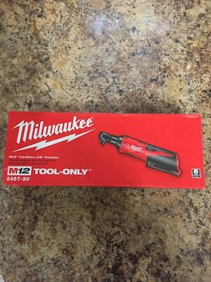 """Milwaukee 2457-20 M12 12V 3/8"""" Inch Cordless Ratchet(TOOL ONLY)NEW (FREE SHIPPIN"""
