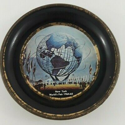 1964-1965 NEW YORK WORLD'S FAIR PLATE / ASHTRAY Unisphere Collectible