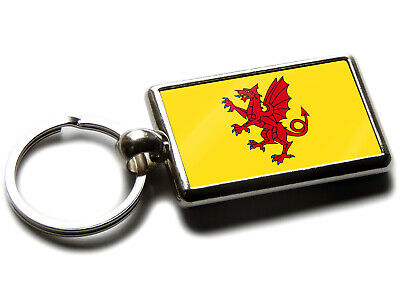 Somerset Flag English County Quality Chrome Keyring Picture Both Sides