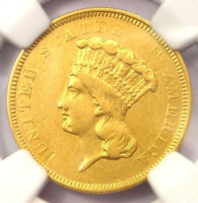 """1854-O Three Dollar Indian Gold Coin $3 - NGC XF Details (EF) - Rare """"O"""" Mint!"""