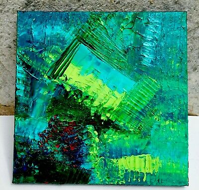 """Original Acrylic Textured Abstract Painting Jamie Freier 8x8"""" Stretched Canvas"""