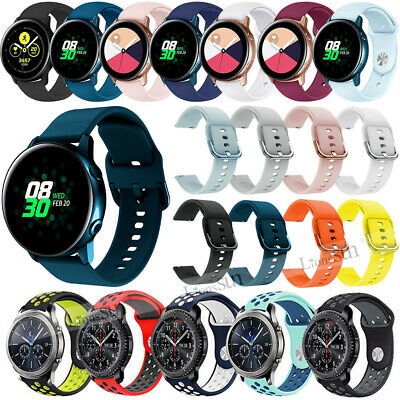 20mm Soft Silicone Strap Band For Samsung Galaxy Watch 42mm Gear S2 Sport Active