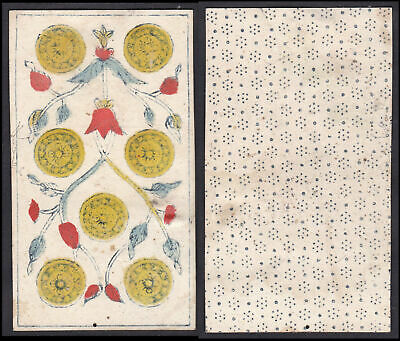 Original 18th century Tarot playing card carte a jouer Spielkarte