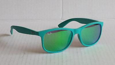 Ray-Ban RB4202 ANDY Green Flash 6072 Mirrored Lens Made in Italy