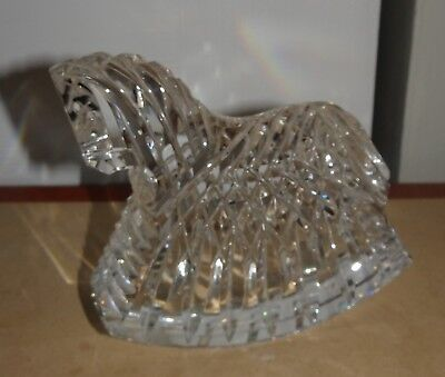 Gorgeous Waterford Crystal Rocking Horse~Baby's Room Figurine - Excellent!!