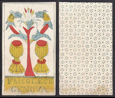 Tarot Spielkarte playing card Original 18th century carte a jouer Solesio Genova