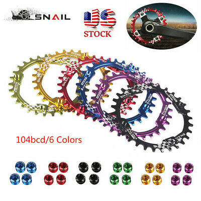 30T Single Narrow Wide Chainring 104bcd XC AM DH MTB Bike Crankset Chainwheels