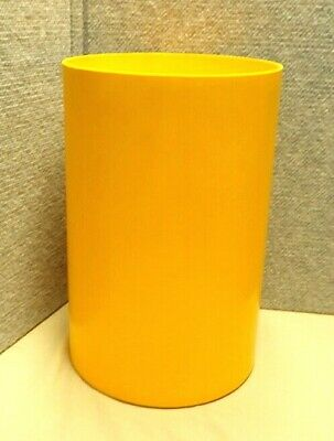 Vintage Kartell Italy Colombini Trash Waste Can Yellow