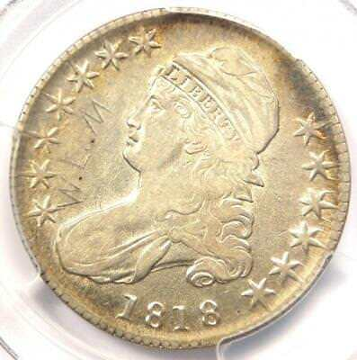 1818 Capped Bust Half Dollar 50C - PCGS XF Details - Rare Certified Coin!