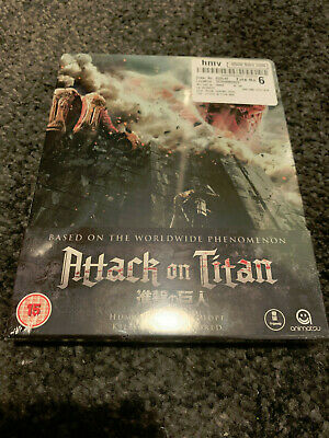 Rare Attack On Titan Part 1 Uk Region B Blu Ray Steelbook Brand New Sealed Mint